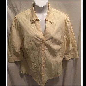 Size 3X Worthington Top Yellow